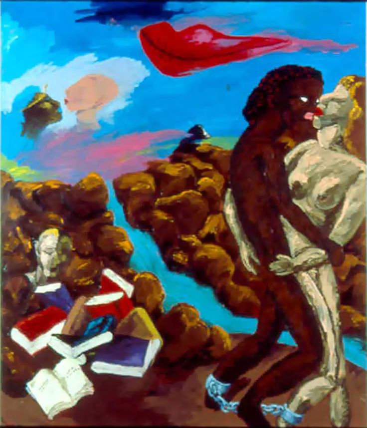 "Robert Colescott, ""Love makes the world go round"", 1985"